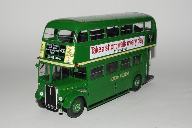 87 aec regent iii rt green country bus grande bretagne 1947