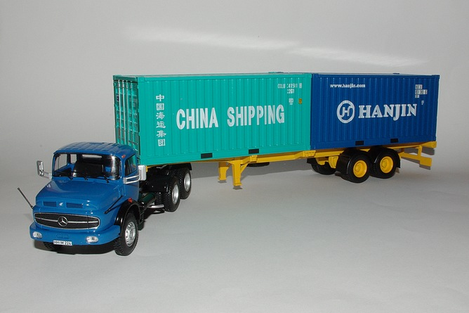 89 mercedes benz ls 2624 porte containers